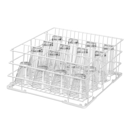 Diskkorg för glas, 4-delad, B400,<br> Bartscher