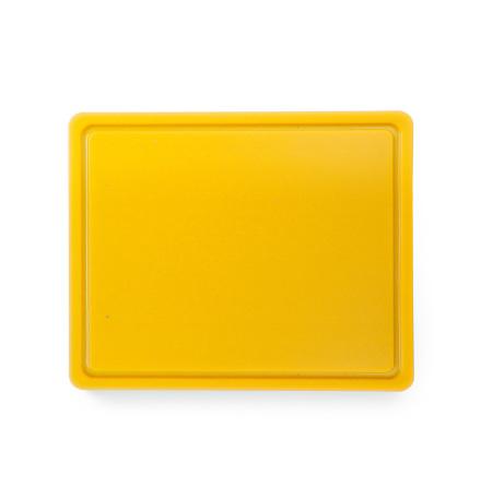 Skärbräda HDPE 500 gul GN 1/2-012 mm,<br> med saftränna, Hendi